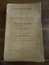 L'Oeuvre de Crébillon le Fils Bibliothèque des Curieux 1921 Apollinaire