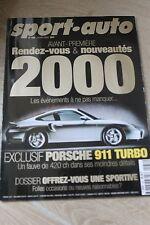 SPORT AUTO n°456 Janvier 2000*PORSCHE 911 TURBO 420ch