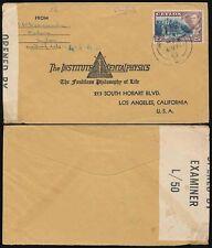Ceylan WW2 1942 institute of mental physique env. censor L50 en californie... matara