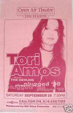 "TORI AMOS / THE DEVLINS 1998 ""PLUGGED '98 TOUR"" SAN DIEGO CONCERT POSTER"