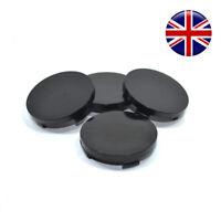 Wheel Center hub Caps set 4 pcs 55mm/52mm Black plain Universal K12b