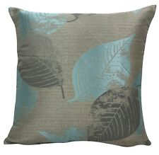 Duck Egg + Grey Floral Cushion Covers 18x18