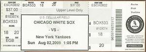 CC Sabathia Win #128 8/2/09 Yankees at White Sox Full Ticket Melky Cabrera Cycle