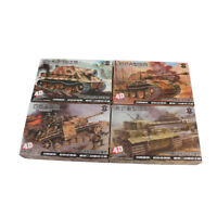 4D Model 1:72 WWII 4pcs Tank Models Military Collections Assemble Model Kit
