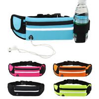 Waterproof Running Belt Bum Waist Pouch Camping Pack Sport Hiking Zip Bottle Bag