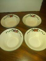 Cades Creek Apple Stoneware Dessert Berry Fruit Bowls Set of 4