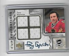 TONY ESPOSITO 2006/7 THE CUP QUAD GAME JERSEY AUTOGRAPH AUTO #1/10