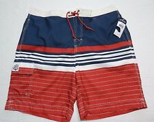 MENS red swimwear beach lifeguard SHORTS = CHAPS = NEW $50 = XL xlarge = cs60
