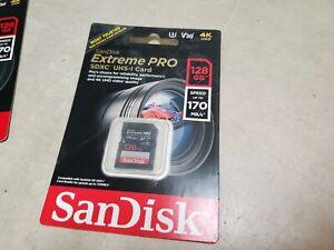 SEALED SANDISK 128GB Extreme PRO UHS-I SDXC Memory Card