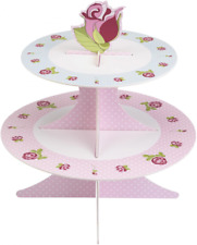 Pretty Vintage Rose Shabby Chic Cake Stand
