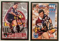 ✺Signed✺ 2 x Kevin Walters (Broncos) Lot of NRL Rugby League cards