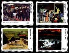 Faroe Islands 1991 Art, Paintings of Samal Joensen-Mykines. UNM / MNH