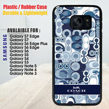 Coach Blue Pattern Samsung Galaxy S4 S5 S6 S7 Edge S8 Plus Note 4 5 8 Case Cover