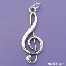 925 Sterling Silver TREBLE CLEF Music Symbol Charm Pendant - lp1429