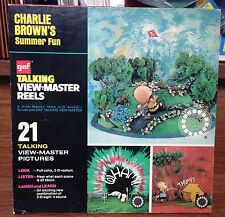 "Vintage Talking View-Master ""Charlie Brown's Summer Fun"" Set AVB548 By GAF"