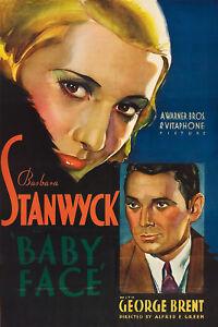 Baby Face - 1933 - Barbara Stanwyck George Brent Green Pre-Code Drama Film DVD