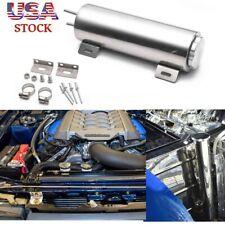 30Oz Universal Radiator Coolant Aluminum Catch Tank Overflow Reservoir Silver