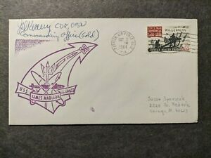 USS JAMES MADISON SSBN-627 Naval Cover 1964 SIGNED Cachet PATRICK AFB, FL