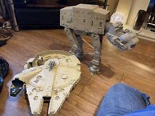 More details for star wars millenium falcon 1979 and at-at originals spares or repair