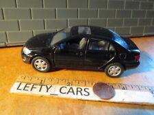 "Kinsmart Shiny Black Toyota Corolla Pull Back Action Car 1:36 scale 5"" long"