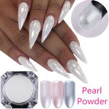 Pigmento perla Polvo De Cromo Blanco 1.5g para Arte en Uñas Cristal Brillante Polvo Born Pretty