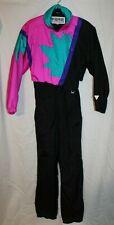 Vintage Fera Ski Snow Suit Womens Size 12 Retro 70s Neon Pink, Teal & Purple NWT