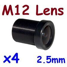 Sunvision 4x 2.5mm Monofocal 130⁰ AOV CCTV Board Mount M12 / MTV Camera Lens