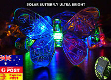 20 LED Mulit-Coloured Butterfly Solar Christmas Outdoor Garden String Lights