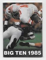 1985 Big Ten Football Multi-Fold Pocket Schedule