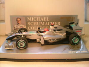 MEGA RARE MINICHAMPS 1/43 MICHAEL SCHUMACHER MERCEDES GP 2010 SHOWCAR SUPERB NLA