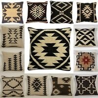 Vintage Jute Cushion Covers Throw Indian Handmade Kilim Rug Decorative Mix 2