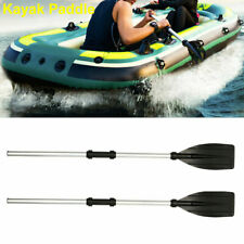 2Pcs Detachable Oars Aluminum Alloy Paddles for Afloat Kayak Rafting Boat