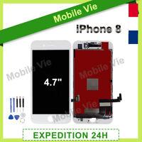 VITRE TACTILE +ECRAN LCD RETINA ASSEMBLÉ SUR CHASSIS POUR IPHONE 8 BLANC +OUTILS