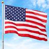 BCP 25ft Telescoping Aluminum Outdoor Flagpole w/ American Flag