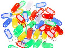 Schlüsselanhänger mit Schlüsselring, Beschriftungsstreifen, Plastik Anhänger