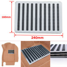 "Universal Stainless Car Floor Carpet Mat Patch Foot Heel Plate Pedal Pad 9"" x 6"""