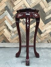 More details for vintage mother of pearl inlaid oriental plant jardiniere stand