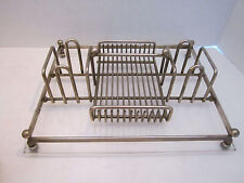 Vtg Oneida Buffet Caddy Silverplate & Acrylic Silverware Holder Tray Flatware