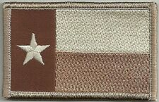 "2"" x 3 1/8"" Desert Tan Texas State Flag Lone Star State Morale Patch"