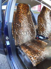 i - TO FIT A FORD MUSTANG CAR, FRONT SEAT COVERS, GOLD CHEETAH FAUX FUR