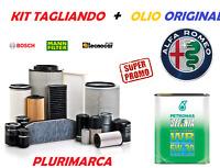 KIT TAGLIANDO COMPLETO OLIO ORIGINALE SELENIA 5W30 ALFA ROMEO 159 1.9 2.0 MJT