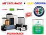 KIT TAGLIANDO COMPLETO OLIO ORIGINALE SELENIA 5W30 ALFA ROMEO GIULIETTA 1.6