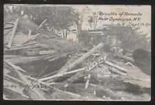 Postcard SYRACUSE New York/NY  Tornado Disaster Damage view 1912