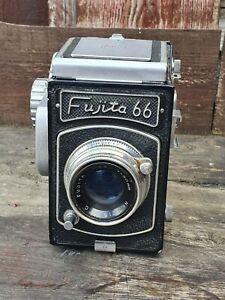 1956 Fujita 66 SQ 6x6 SLR Medium Format Film Camera 80mm Lens with original case