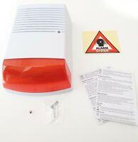Casa Garage Antifurto Finto Modello Sirena Con LED Lampeggiante IP44 Nuovo Ovp