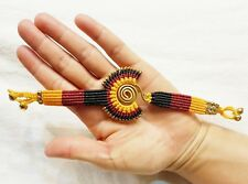 Red Yellow Black Bracelets Handmade For Man Women Jewelry Gift Handcrafted Brass