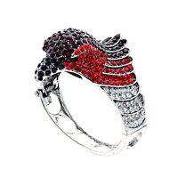 Fashion Silver Eagle Bracelet Bangle Charm With Crystal Rhinestones New