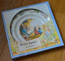 PETER RABBIT WEDGWOOD CHRISTENING SMALL PLATE 18 CM BOXED