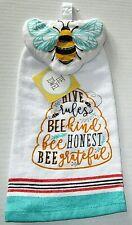 "Tie Towels HIVE RULES  15"" x 16.5"" 100% Cotton"