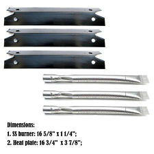 Replacement Brinkmann 4040, 810-4040 Gas Grill Burners & Heat Plates - 3Pack